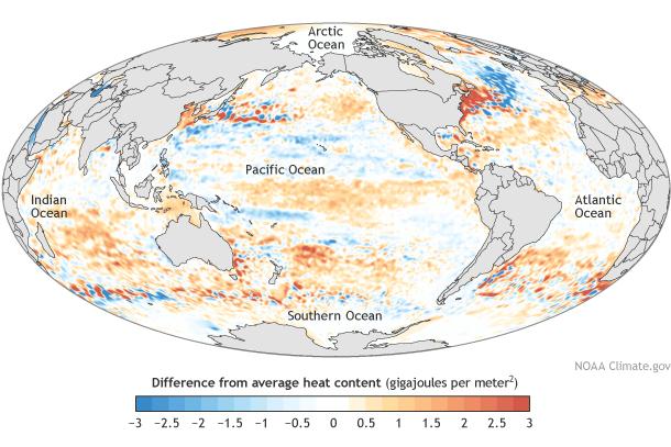 Die Temperaturen der Ozeane sind auf höchsten Stand gestiegen